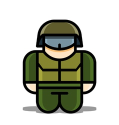 Soldier toy icons vector