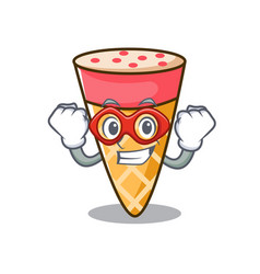 Super hero ice cream tone character cartoon vector
