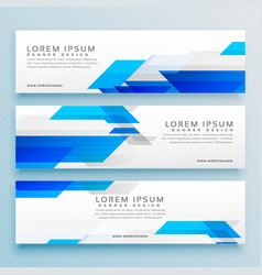 Three business style header banner design set vector