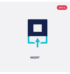 two color insert icon from geometry concept vector image