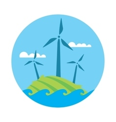 Wind power banner Eco energy generation vector image