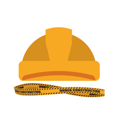 Worker security helmet vector