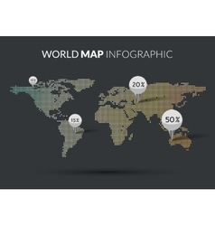 World Map colorful Dot infographics vector image