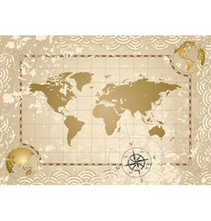 Antique World Map vector image vector image