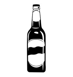 beer bottle icon alcohol drink vector image vector image