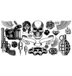 set of tattoo art vector image vector image