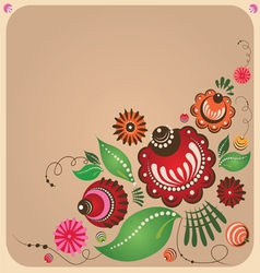 floral Russian style design vector image