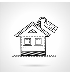 Housing abstract line icon vector image vector image