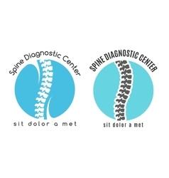 Spine medical diagnostics symbol or logo vector image