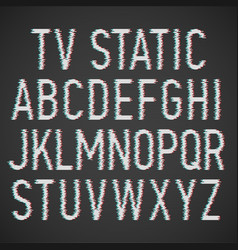 Tv static effect font vector