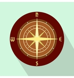 An ancient compass flat icon vector
