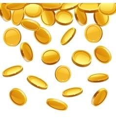 Falling gold coins financial concept vector image