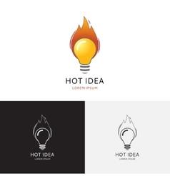 Hot idea logo vector