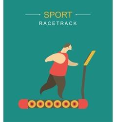 racetrack vector image vector image