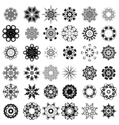 Set of Different Rosettes vector image vector image