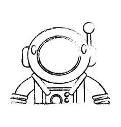 suit space astronaut sketch vector image vector image