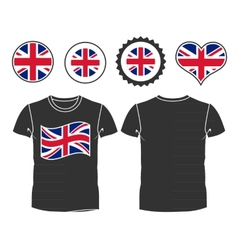 t-shirt with the flag of great Britain vector image