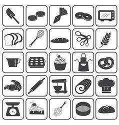 Basic Bakery Icons Set vector image