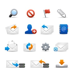 e-mail Icons - Set 3 of 3 - Soft Series vector image vector image