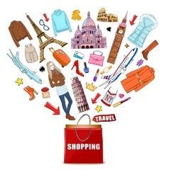 Shopping Europe Travel Composition vector image vector image