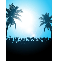 Summer festival with palm trees vector