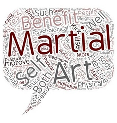 The Bliss of Martial Arts text background vector image vector image