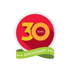 Thirty years anniversary logo 30 year birthday vector image