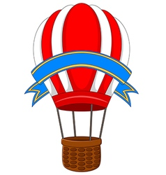 air balloon isolated on white background vector image