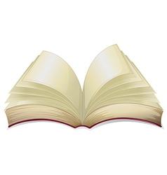 An empty book vector image