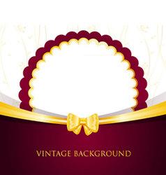back vintage vector image