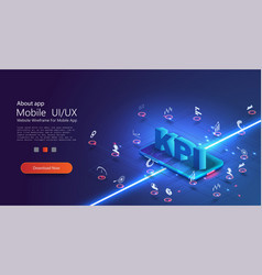 banner kpi concept with icons kpi key performance vector image