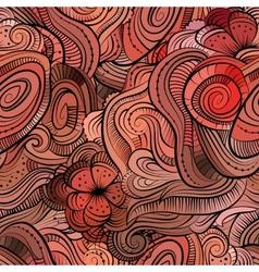 Beautiful decorative floral pattern vector