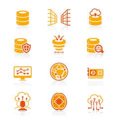 Big data icons - juicy series vector