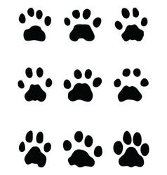 black footprints of leopard vector image