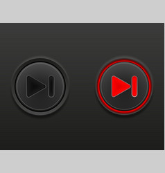 black media button rewind on and off position vector image