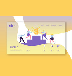business career landing page template website vector image