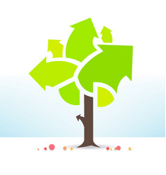 Business tree is fruitful vector