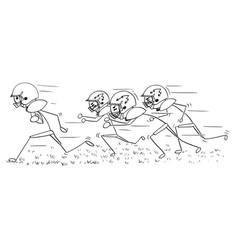 Cartoon american football player running vector