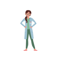 cartoon character of hospital worker professional vector image