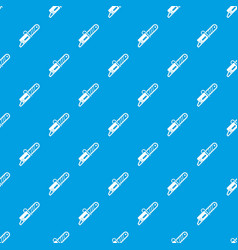 Chainsaw pattern seamless blue vector