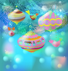 Christmas decorations card vector image