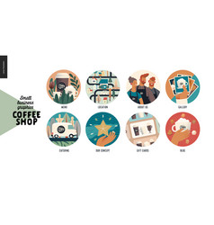 Coffee shop - small business graphics - web icons vector