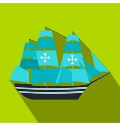 Columbus ship flat icon vector image