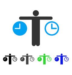 Compare time flat icon vector