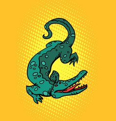 crocodile alligator cayman vector image