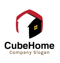 Cube Home Design vector