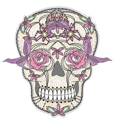 Cute sugar skull vector