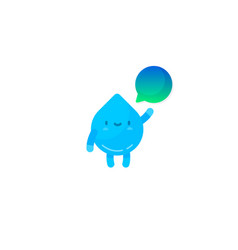 cute water drop character vector image