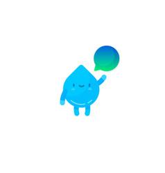 cute water drop character vector image