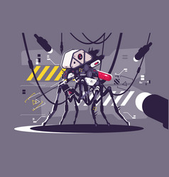 Cybernetic robot mosquito drone vector